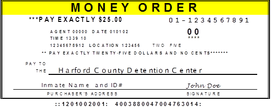 Harford County Sheriff's Office:Payment - Harford County